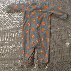 Carter's One Pieces - Warm and fuzzy fox footie onesie